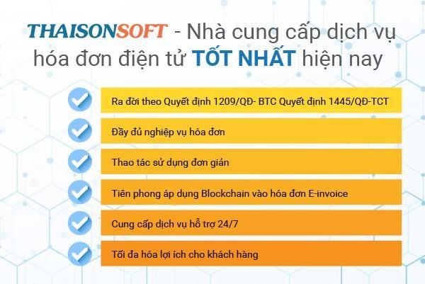 Phần mềm hóa đơn điện tử Einvoice của Thái Sơn