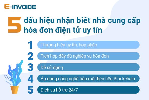5 dấu hiệu nhận biết nhà cung cấp hóa đơn điện tử uy tín