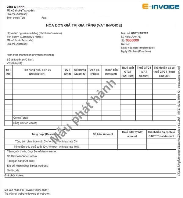 Quy định về ký hiệu hóa đơn