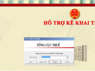 Phần mềm hỗ trợ kê khai