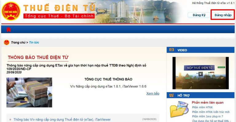 Hướng dẫn kê khai thuế TNDN trực tuyến