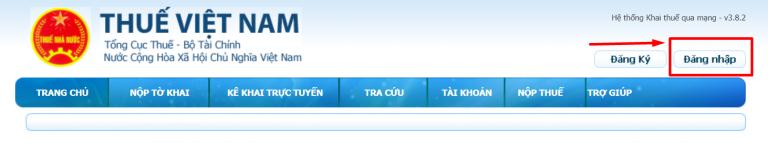 Website tổng cục thuế.