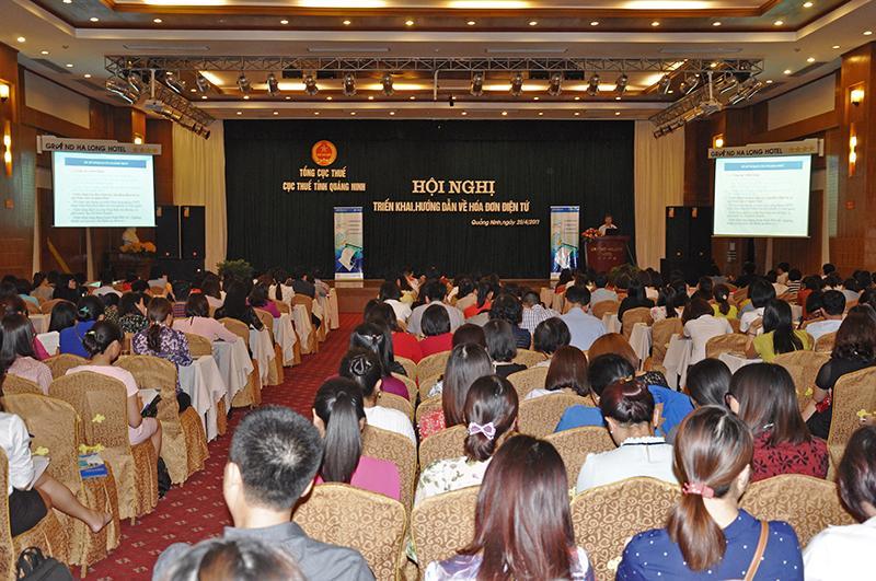Hội nghị hướng dẫn về hóa đơn điện tử tại Quảng Ninh thu hút được nhiều sự quan tâm